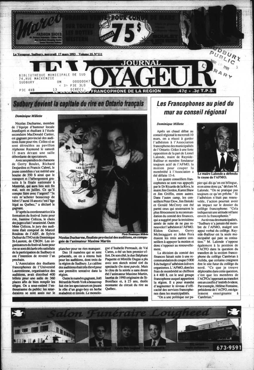 01 Le Voyageur